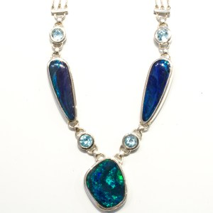Unique Black Opal Handmade Necklace