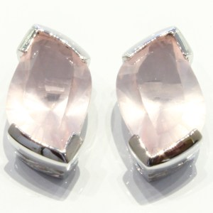 Special Faceted Rose Quartz Studs