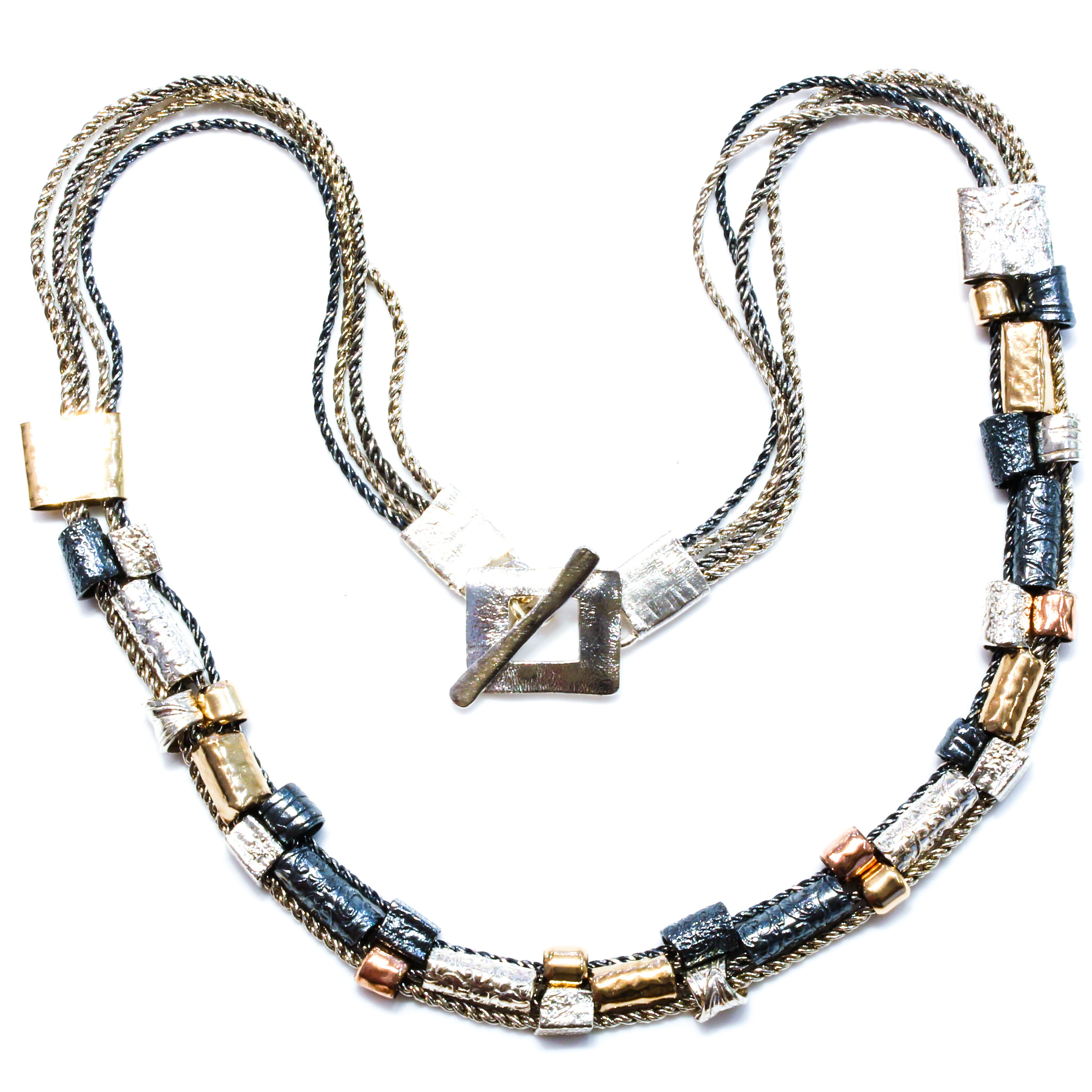 Handmade Necklace With Gold and Silver