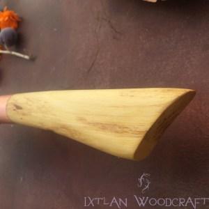 Bunka kitchen knife orange wood, copper