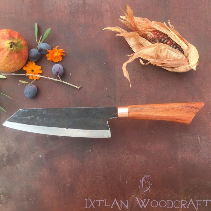 Bunka kitchen knife carob wood/copper