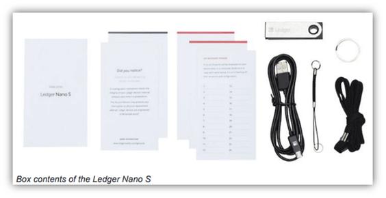 Ledger Nano S內容物