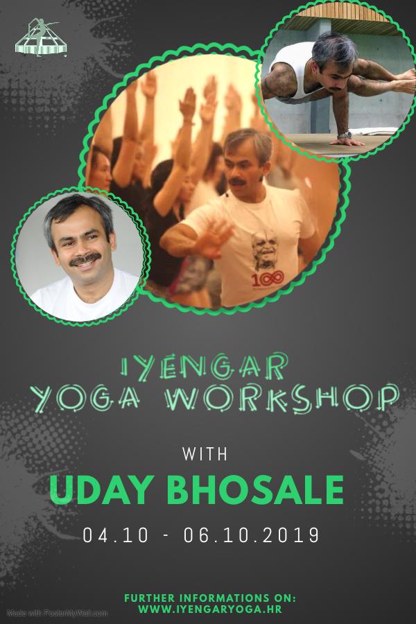 iyengar yoga workshop with uday bhosale