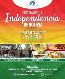 FESTEJANDO LA INDEPENDENCIA DE BOLIVIA - 196 AÑOS DE INDEPENDENCIA