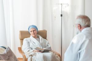 Woman on chemotherapy