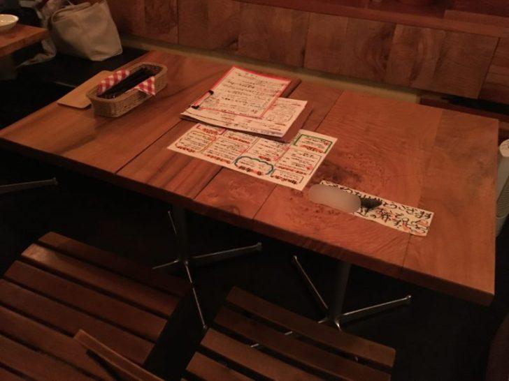 ジロラモ,テーブル席