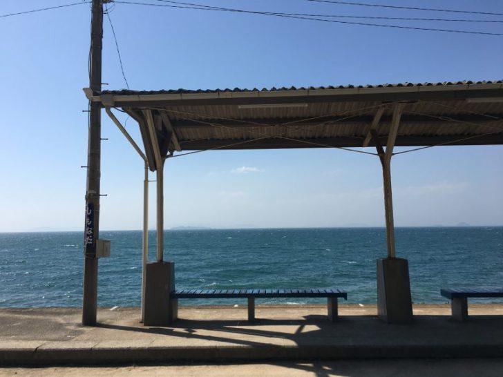 下灘駅,海