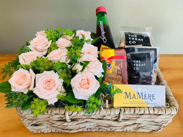 Roses and Grapetiser Gift Basket For Her