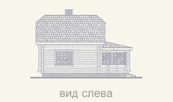 вид деревянного дома слева