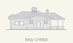 вид слева дома из сруба