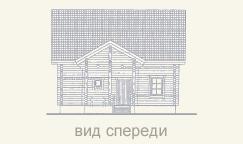 вид дома из сруба