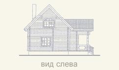 вид дома из сруба слева