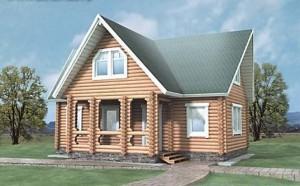 Деревянный дом из бруса