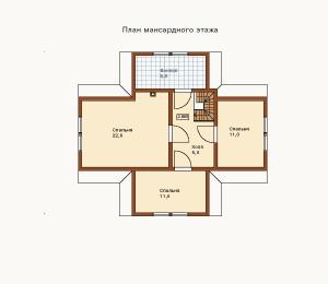 план мансарды дома из бруса