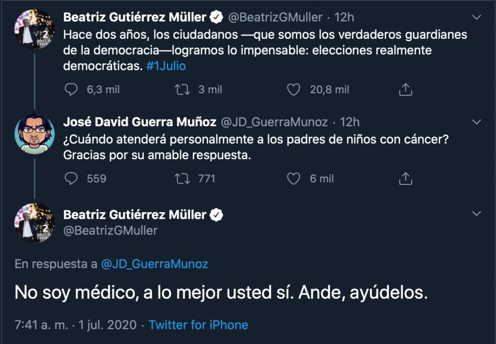 tweet no primera dama