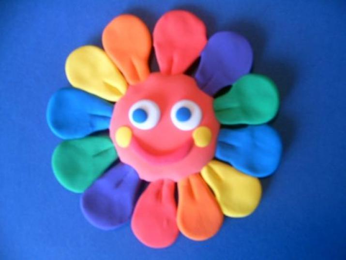 Пластилиновые цветочки своими руками