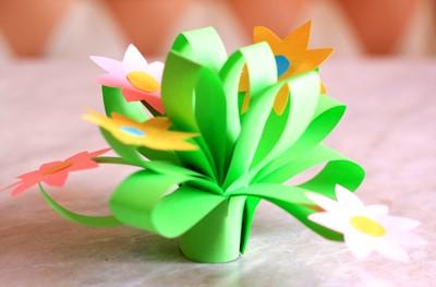 Букет из цветной бумаги