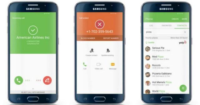 Samsung S7 caller identification