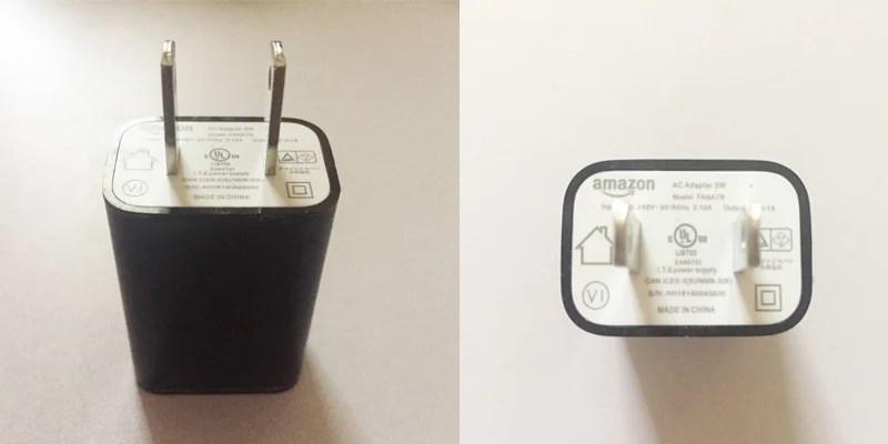 Amazon同梱充電器
