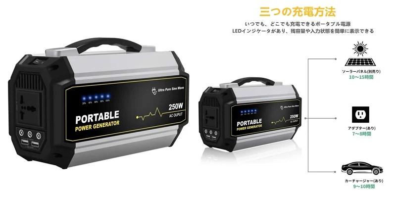 Moongo ポータブル電源67500mAh/250Wh