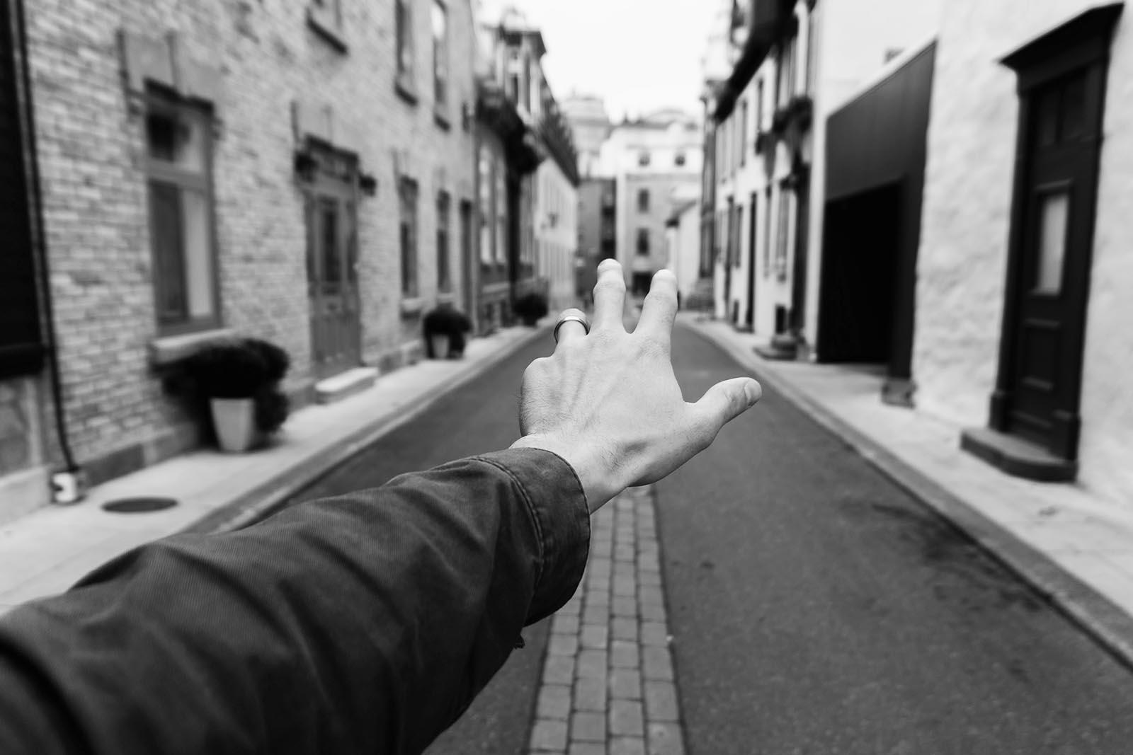 Seeking embraces on empty streets...