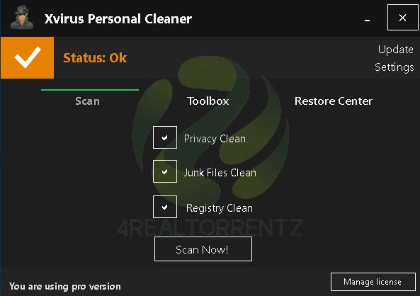 Xvirus Personal Cleaner Pro