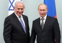 Benjamin Netanjahu és Vlagyimir Putyin