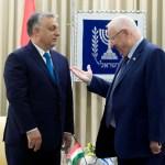 Reuven Rivlin izraeli elnök fogadja Orbán Viktor magyar miniszterelnököt az elnöki rezidencián Jeruzsálemben 2018. július 19-én – fotó: Koszticsák Szilárd / MTI
