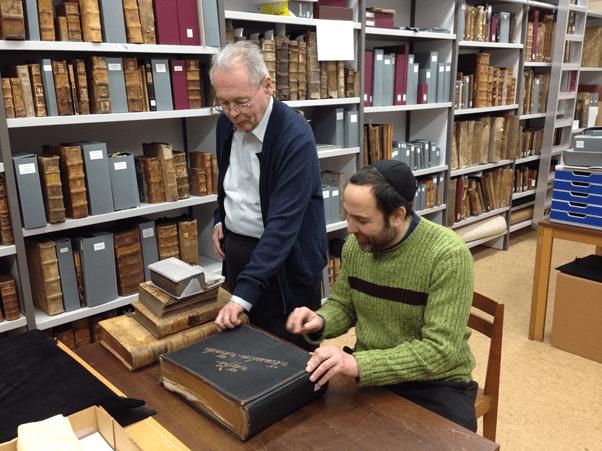 Helmut Hinkel és Leor Jacobi a Martinus Könyvtárban, Mainz,Németország Fotó: Alexandra Nusser