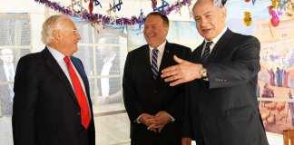 Mike Pompeo amerikai külügyminiszter és Benjamin Netanjahu izraeli kormányfő - fotó: Amos Ben Gershom / GPO