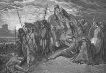 Ahab halála - rajz: Gustave Doré, 1866