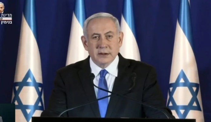Netanjahu reagál az ellene hozott vádiratra - fotó: YouTube