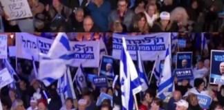 Jobboldali tüntetők Jeruzsálemben - fotó: Benjamin Netanjahu Twitter-oldala