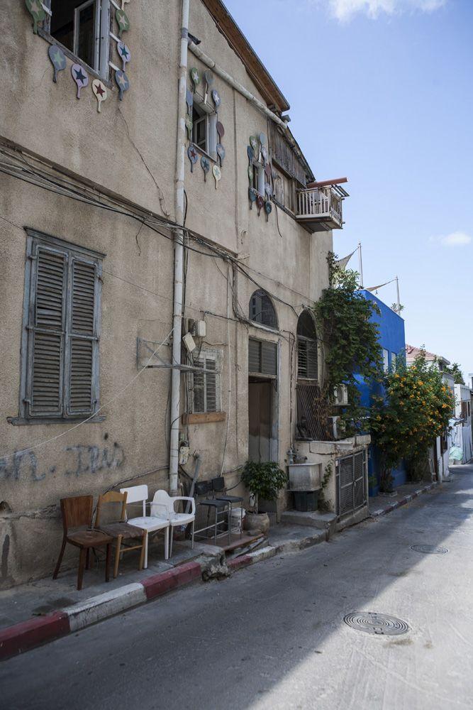 tel-avivi utca régi ház