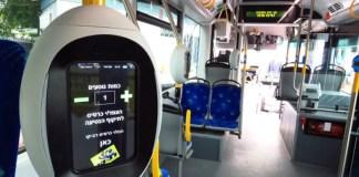 Rav Kav készülék egy autóbuszon - fotó: Egged