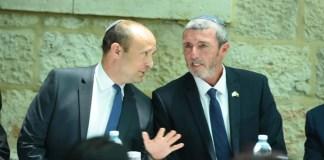 Naftali Bennett és Rafi Peretz a kneszetben - fotó: Yossi Ifergan / GPO