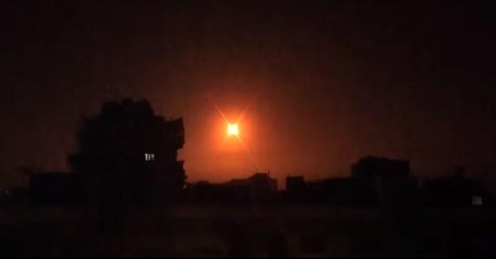 Izraeli légitámadás - fotó: SANA / YouTube