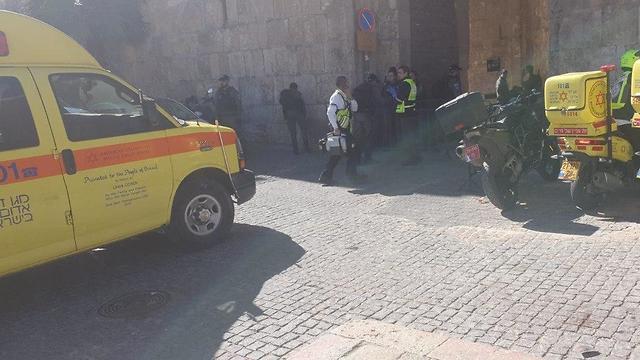 A merényletkísérlet helyszíne - fotó: Izraeli Mentők
