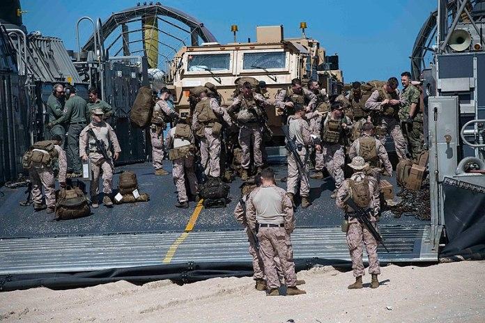 Amerikai tengerészgyalogosok a haifai kikötőben, 2018 - fotó: Kristin M. Schuster / Amerikai Hadsereg