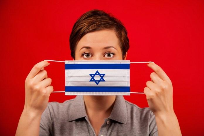 izraeli zászló szájmaszk maszk koronavírus