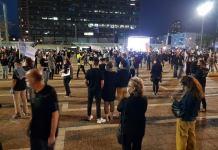 tüntetés Tel-Avivban