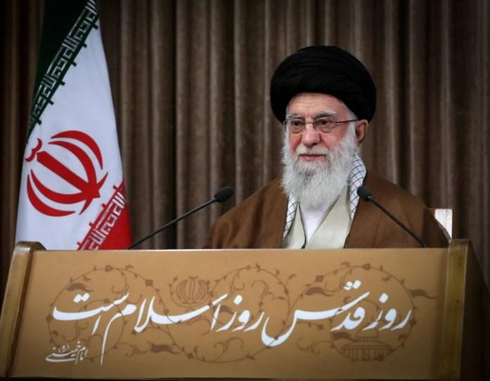 Ali Hamenei Teheránban szónokol, 2020. május 22. - fotó: Hamenei hivatalos oldala