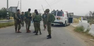 A gázolásos merénylet helyszíne Ciszjordániában - fotó: Izraeli Mentők