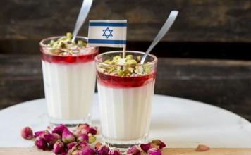 malabi tejpuding desszert izraeli zaszlo etel