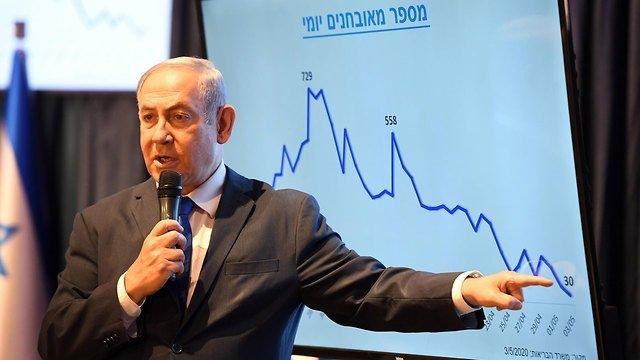 Netanjahu a sajtótájékoztatón - fotó: Haim Katz / GPO
