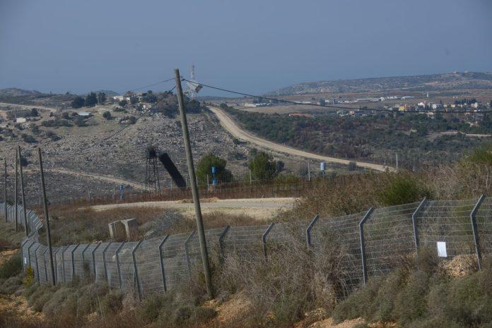 A határkerítés az izraeli-libanoni határon az un. Kék Vonalon 2 km-re Arav Al AramSha településtől Mateh Asherben 2020 január 14.-én - fotó: Bea Bar Kallos