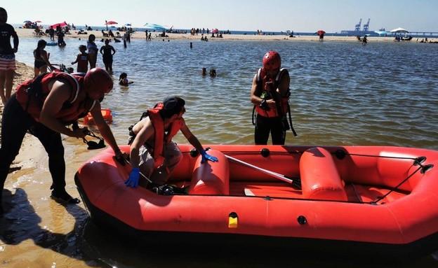 A Zikim tó, a tragédia helyszíne - fotó: tűzoltó és mentőszolgálat