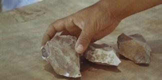Százezer éves kövek - fotó: Izraeli Régészeti Hatóság