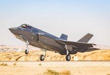 """F-35-ös """"Adir"""" vadászgép - fotó: Izraeli Védelmi Erők"""