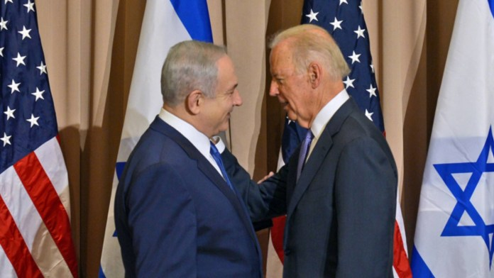 Benjamin Netanjahu és Joe Biden 2016-ban - fotó: GPO